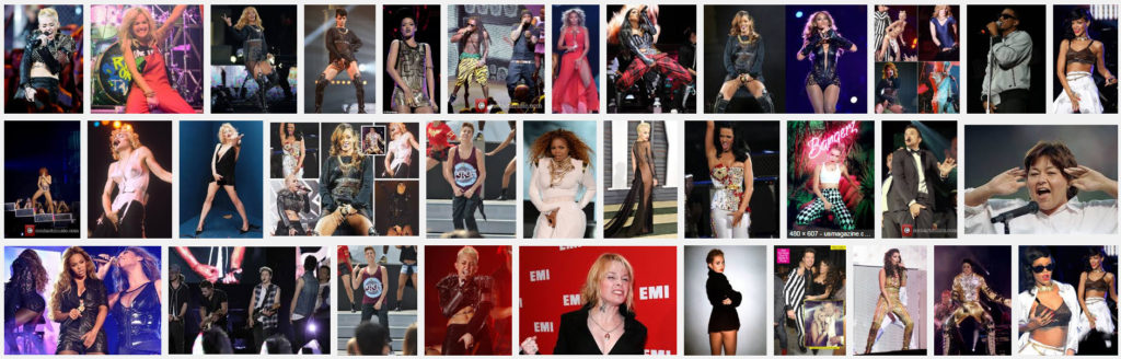 """Screen shot of Google search for """"female singers grabbing their crotch."""